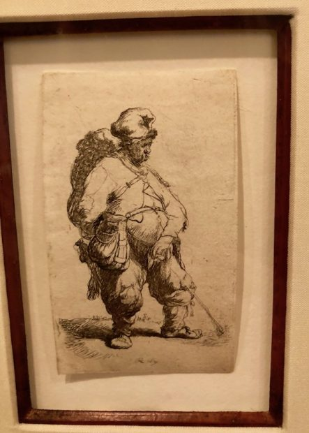Rembrandt, A Man Making Water, 1621.