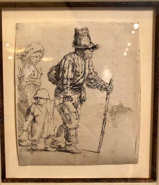 Rembrandt, Peasant Family on the Tramp, c. 1652.