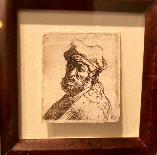 Rembrandt, Man Crying Out, Three-Quarters Left; Bust, c. 1631