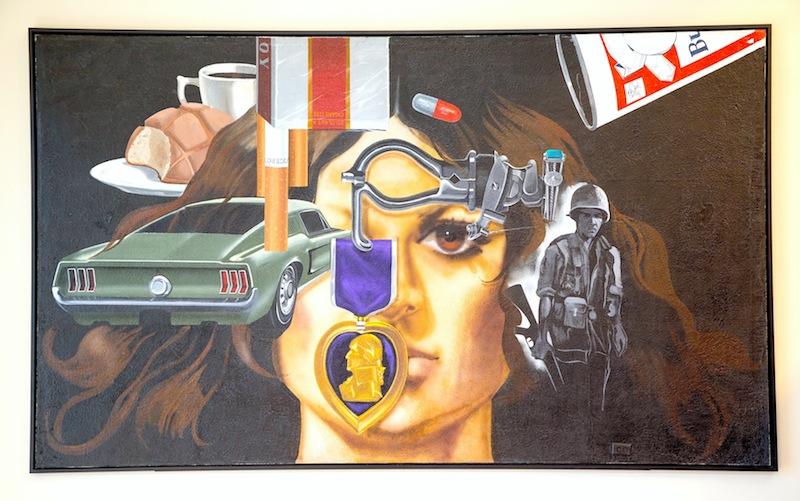 Jesse Treviño, Mi vida, 1971-72, acrílico sobre láminas de yeso, 243.8 x 426.7 cm, colección de Inez Cindy Gabriel. Imagen cortesía de la Ciudad de San Antonio.