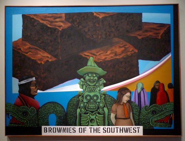 Mel Casas, Humanscape 62, (Brownies of the Southwest), (Panoramas humanos 62; Brownies del sudoeste), 1970, acrílico sobre lienzo, 182.9 x 243.8 cm, Smithsonian American Art Museum. Imagen cortesía de Ruben C. Cordova.