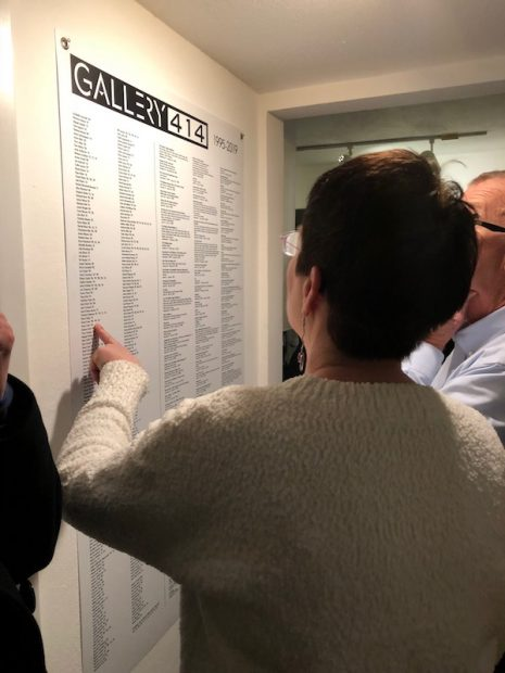 414's list of exhibited artists