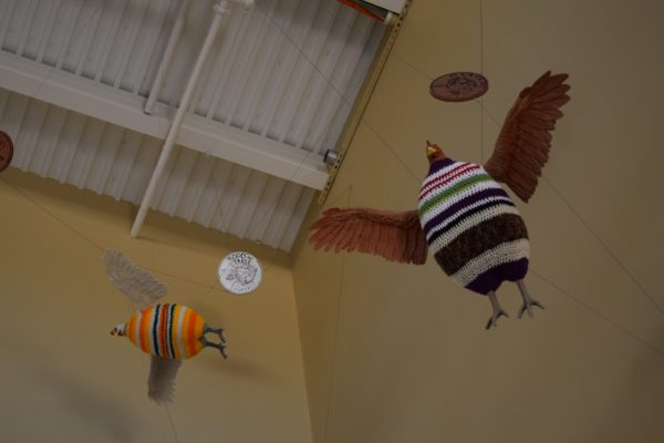 Elaine Bradford art installation in HEB in Houston