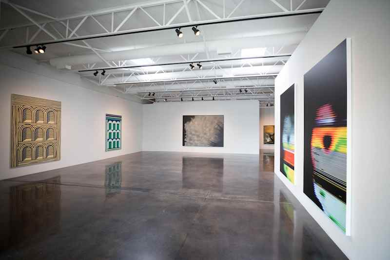 Installation view of Monumental I at Barry Whistler Gallery, Dallas