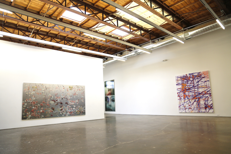 Pictured R-L, works by Petra Cortright, Dean Terry, Lorraine Tady