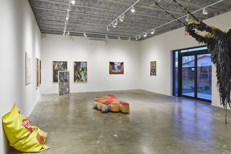 Installation view of the group show INTERWOVEN at MASS Gallery, Austin