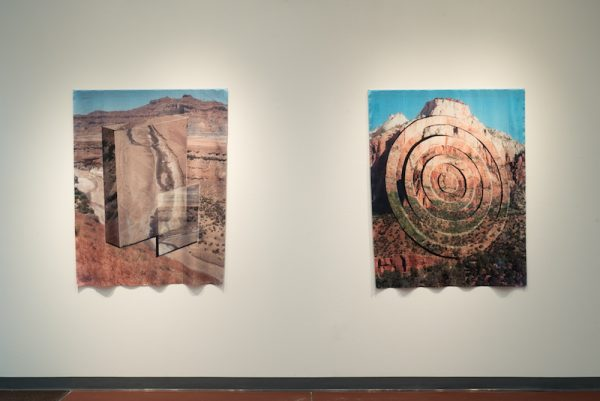 View of two of Charlie Kitchen's works