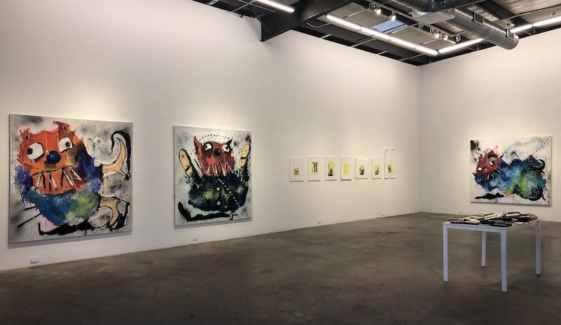 Nic Mathis' solo show at Erin Cluley Gallery, Dallas.