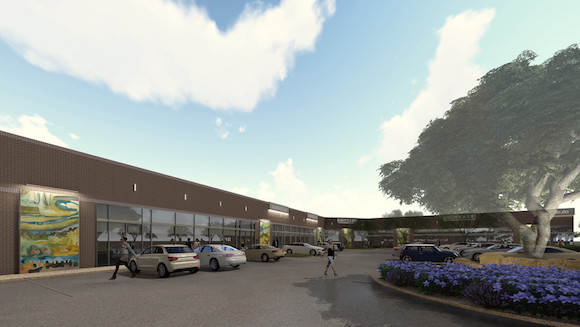 Rendering of River Bend business park, in the Design District, Dallas.