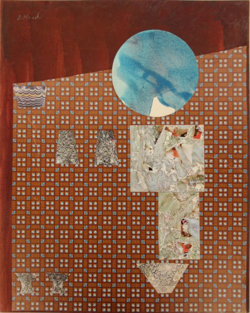 Artist Dorothy Hood Collage at McClain Gallery