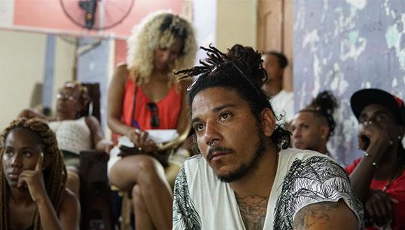 Cuban hip-hop artist El Cepe MC at an AfroRazones workshop, NALAC Pod Grant