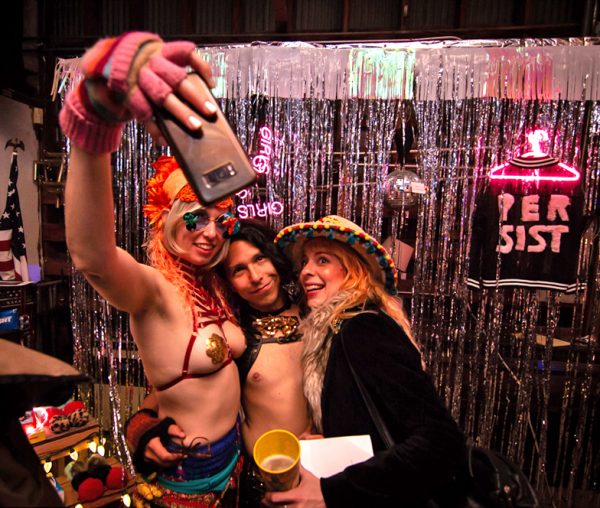 DOUBLE TAKE party hosted by Pussy Power House at the Satellite Art Show.