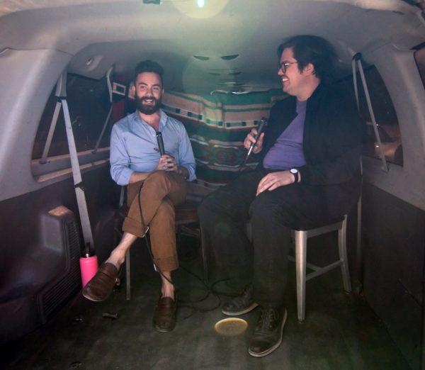 Daniel Lisi and Brandon Zech at the 2019 Satellite Art show in Austin Texas
