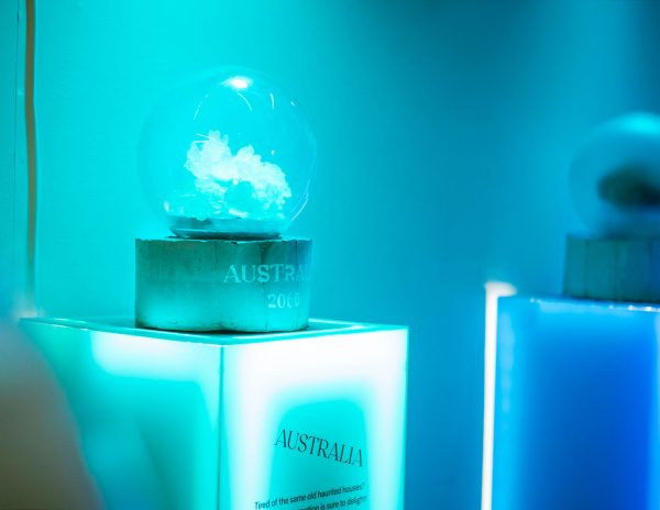 Future Souvenirs art installation at the Satellite art show in Austin Texas 1
