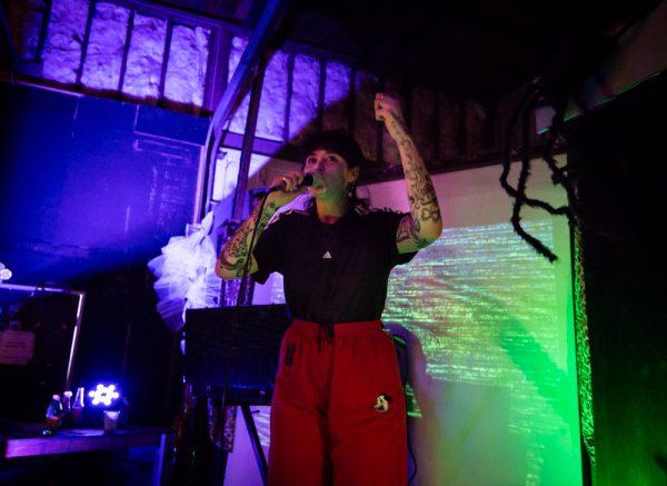 GRÜN WASSER performing at the Satellite Art Show.