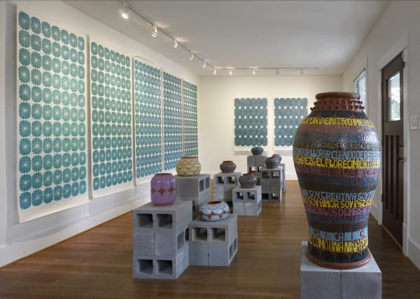 Installation view of Gabo Martinez's solo exhibition at Front Gallery, Houston, 2019