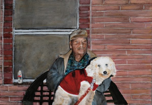 Ana Fernandez, Grandpa & Zoomer, 2019, oil on panel, 10 x 14 inches