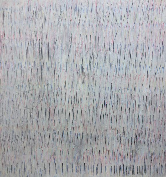 "Jeffrey Poole, Ghost Matter Mind, 2019. Mixed media, 33 x 31"""