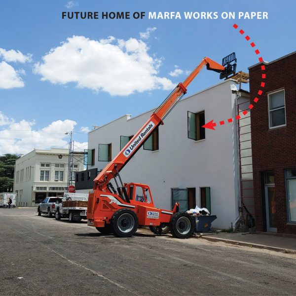 Marfa Works on Paper Art gallery new location at 125 Highland Ave