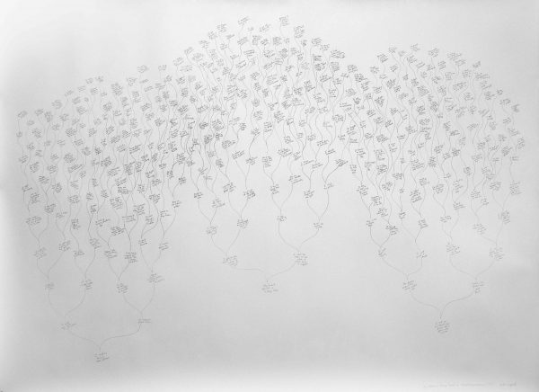 New York artist Beth Campbell drawing for UT Austin Public art collection