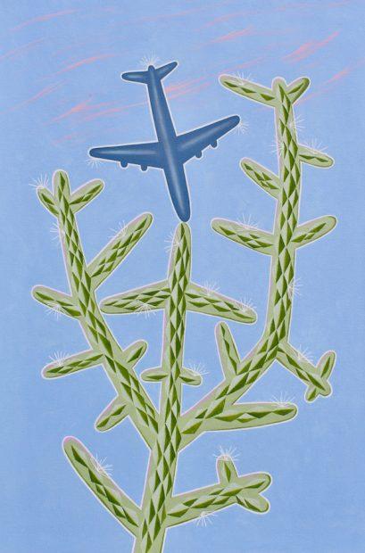 "Peter Harrington, Aerocactus.Oil on canvas, 36 x 24"""