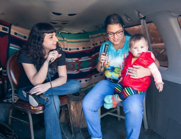 Rebecca Marino and Ana Vizcarra Rankin at the 2019 Satellite Art Show