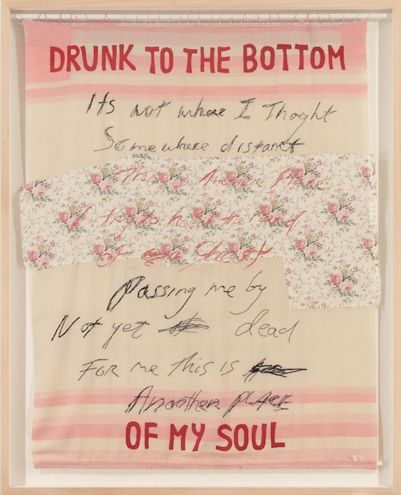 Tracey Emin, Drunk to the Bottom of my Soul, 2002.