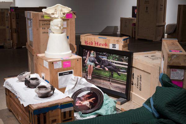 Installation view(Motherhood),Janine Antoni and Anna Halprin: Paper Dance,The Contemporary Austin
