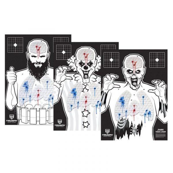 extremist, killer clown, zombie targets