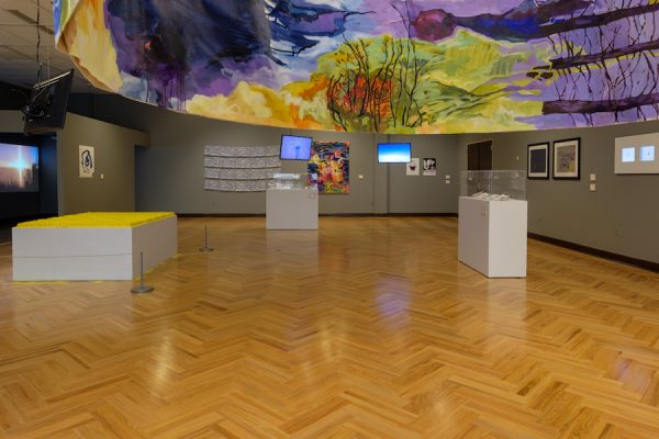 Installation view of the 2019 TTU Land Arts exhibition at TTU's Museum