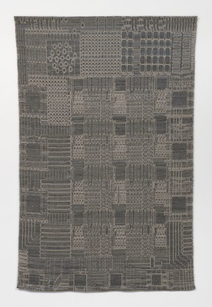 Analia Saban, Tapestry (Optical Mouse, Computer Chip for Motion Detection, Xerox, 1980), 2018