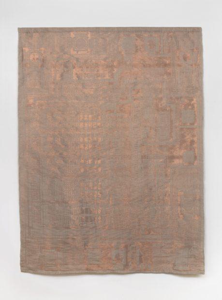 Analia Saban, Copper Tapestry (Dallas Semiconductor, DS1000Z, 1991), 2019