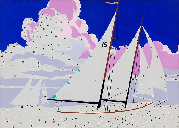 Andy Warhol paint by numbers boat