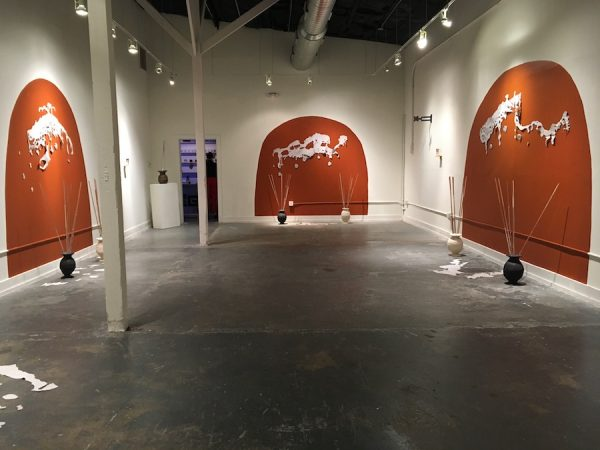 Installation shot of Nicholas Frank's show 'Demos Schmemos' at Fl!ght Gallery