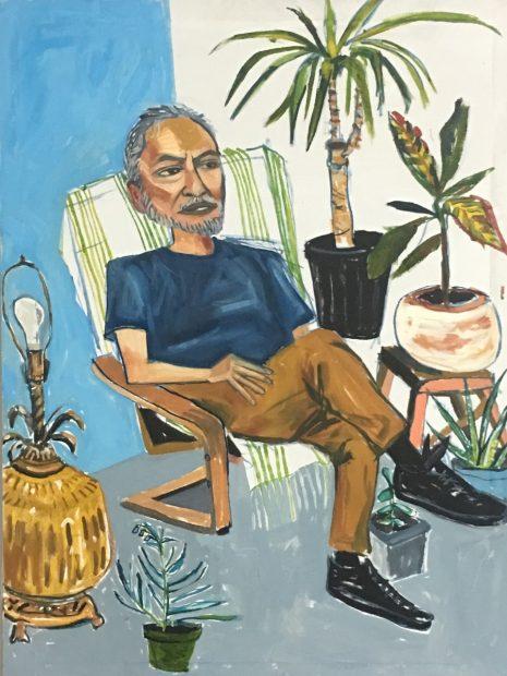 Jesse Amado painting by Cruz Ortiz at Ruby City in San Antonio Texas