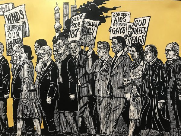 Detail from Sandow Birk & Elyse Pignolet's American Procession