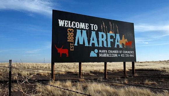 art in Marfa Texas