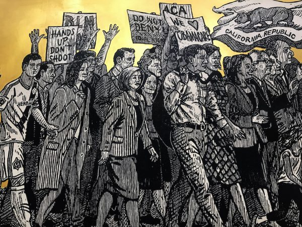 Detail of Sandow Birk & Elyse Pignolet's American Procession