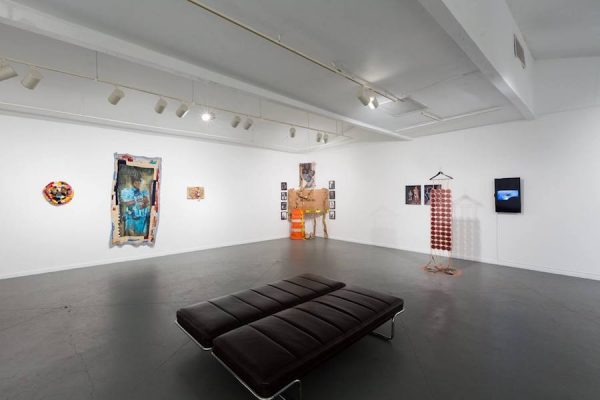 Installation view of Here, Ahora: Houston, Latinx, Queer Artists Under 30 at Art League Houston