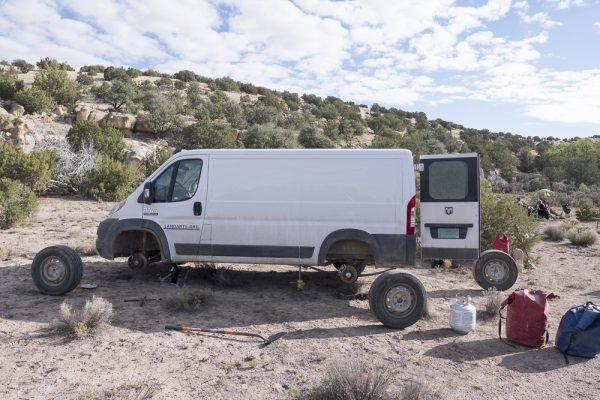 Preventative tire rotation on the rental van