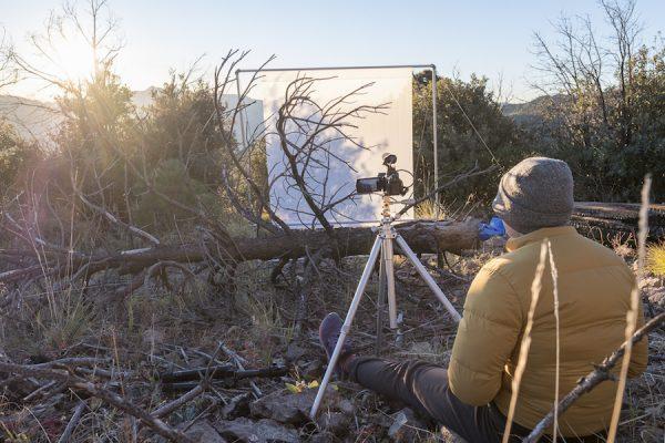 Sunrise Capture: Hannah recording light interaction