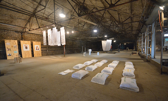 Temporary Collective installation shot at 500 Singleton in Dallas. Image via UTA