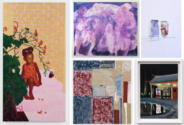 Clockwise from left: Arcmanoro Niles, When You Give Your Love Away, 2018. Courtesy the artist and Rachel Uffner Gallery. Maja Ruznic, Azmira's Daughters, 2018. Courtesy the artist and Conduit Gallery. Nobutaka Aozaki, Street Can: Diet Coke (12 fl oz) (04/03/2014 Red Hook, Brooklyn), 2014. Courtesy the artist and Ulterior Gallery. Dike Blair, Untitled, 1986. Courtesy the artist and Karma. Samuel Levi Jones, Intercalate, 2018. Courtesy the artist and Galerie Lelong.