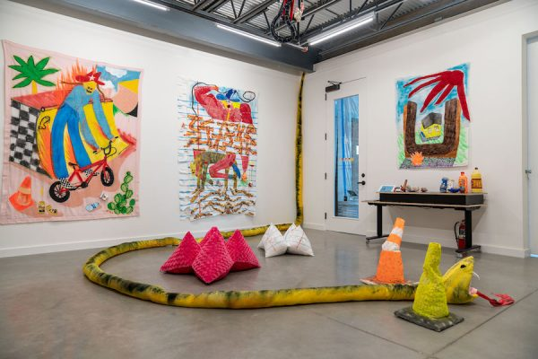 """Installation view of Alexis Mabry and Steef Crombach's """"M*A*S*H""""."""
