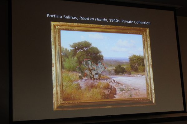 Curator Michael R. Grauer places Porfirio Salinas' Road to Hondo among the top ten all-time Texas paintings.