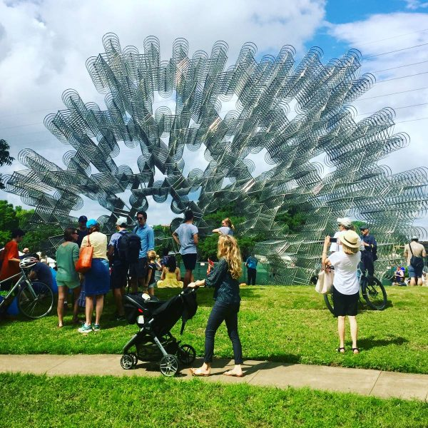 Forever bicycles art sculpture by Ai Wei Wei in Austin Texas