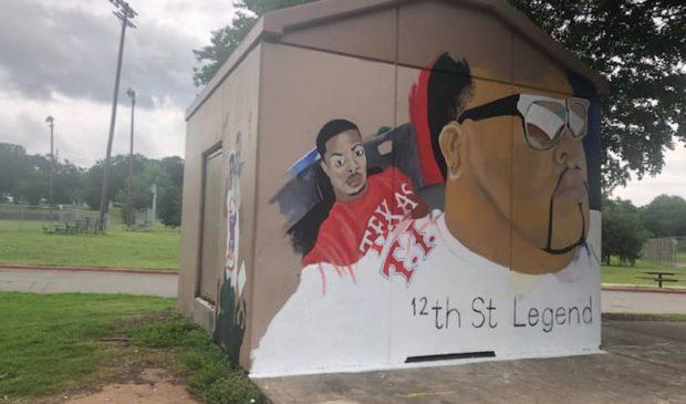 """Givens Park Mural: Andre """"Big Dre"""" Davis Jr."""