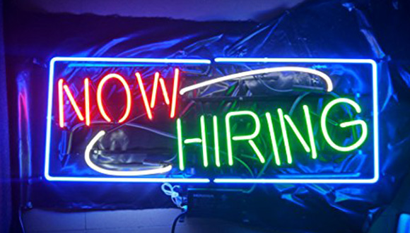 How hiring neon sign for art jobs
