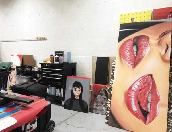 Jeremy Biggers' studio