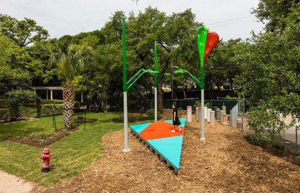 Jessica Stockholder at Laguna Gloria sculpture park in Austin Texas
